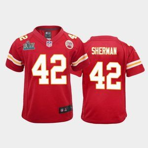 Youth Chiefs Anthony Sherman Super Bowl LIV Jersey